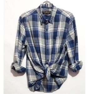 great north west button down plaid flannel blue an